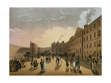 King's Bench Prison (Exterior), from Ackermann's 'Microcosm of London' Giclee Print by T. & Pugin Rowlandson