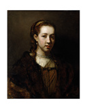 Portrait of a Lady, Said to Be Hendrickje Stoffels Giclee Print by Rembrandt Harmensz. van Rijn