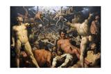 The Fall of the Titans (The Titanomachia), 1588-90 (Detail) Giclee Print by Cornelis Cornelisz. van Haarlem