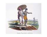 A Man of the Vaishya Caste Inspects His Small-Holding, 1827-35 Giclee Print by M.E. Burnouf