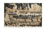 View of the Awful Conflagration at the Tower of London, October 31st, 1841 Giclee Print by J. Fairburn