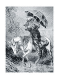 'The Circuit Rider', 1867 Giclee Print by Alfred R. Waud