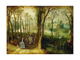 The Castle in the Marsh Giclee Print by Adriaen Pietersz. Van De Venne