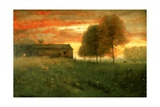 Sunset, Montclair, 1892 Giclee Print by George Snr. Inness