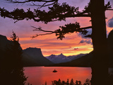 St Mary Lake at Sunset, Glacier National Park, Montana, USA Stampa fotografica di  Jaynes Gallery