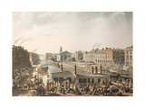 "Covent Garden Market, Bird's Eye View, from Ackermann's ""Microcosm of London"", 1811 Giclee Print by T. & Pugin Rowlandson"