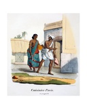 A Paraiyar Cook, 1827-35 Giclee Print by M.E. Burnouf