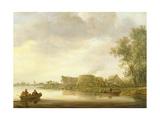 Lime Kilns in a River Landscape Giclee Print by Jan Josephsz. Van Goyen