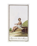 A Woman from Easter Island, Engraved by Albuerne, 1799 Giclee Print by A. Rodriguez