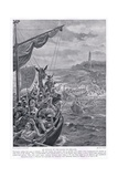An Attack of the Danes on Ireland Circa Ad795, 1920's Giclee Print by Henry A. Payne