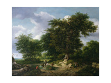 The Great Oak, 1652 Giclee Print by Jacob Isaaksz. Or Isaacksz. Van Ruisdael