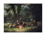 A Shady Corner Giclee Print by William Snr. Shayer