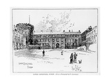 Lower Castle Yard, Dublin, Engraved by Herbert Railton (1857-1910) Giclee Print by W. Lawrence