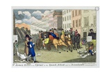 """St. James's Street in an Uproar, or the Quack Artist and His Assailants"", Pub. by S.W. Fores, 1819 Giclee Print by J.l. Marks"