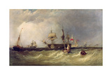 Men-Of-War Off Portsmouth, England, 1855 Giclee Print by Clarkson R.A. Stanfield
