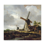 Landscape with Windmills, Near Haarlem, C.1650-52 Giclee Print by Jacob Isaaksz. Or Isaacksz. Van Ruisdael
