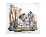 Carpenter, 1827-35 Giclee Print by M.E. Burnouf