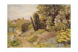 The Alpine Gardens at Tangley Manor Giclee Print by Thomas H. Hunn
