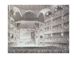Interior of the Drury Lane Theatre, London, 1808 Giclee Print by T. & Pugin Rowlandson