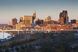 St Paul Skyline from Indian Mounds, Minneapolis, Minnesota, USA Photographic Print by Walter Bibikow