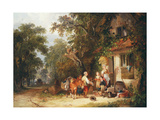 The Rabbit Seller, 1853 Giclee Print by William Snr. Shayer