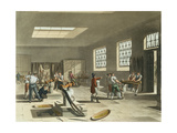 Royal Mint, Stamping Room from Ackermann's 'Microcosm of London' Giclee Print by T. & Pugin Rowlandson