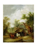 Farmyard Scene Giclee Print by William Snr. Shayer