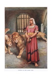 Daniel and the Lions Giclee Print by Arthur A. Dixon