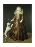 Child with a Dog Giclee Print by Wybrand Simonsz. de Geest