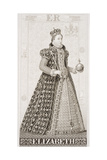 Queen Elizabeth I (1533-1603) from 'Illustrations of English and Scottish History' Volume I Giclee Print by J.l. Williams