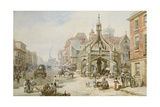 The Poultry Cross at Salisbury Giclee Print by Louise J. Rayner