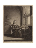 An Elderly Bearded Philosopher Sitting at a Desk in Front of a Window Giclee Print by Rembrandt Harmensz. van Rijn