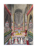 The Coronation of William IV (1765-1837) and Adelaide (1792-1849) in Westminster Abbey in 1830,… Giclee Print by W. Read