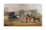 Mr. Massey Stanley with Cabriolet and Hacks at Hyde Park Corner, 1833 Giclee Print by John E. Ferneley