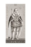 James I (1566-1625) from 'Illustrations of English and Scottish History' Volume I Giclee Print by J.l. Williams