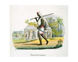 A Siver Carrier, 1827-35 Giclee Print by M.E. Burnouf