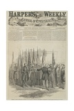 General Custer Presenting Captured Battle Flags at the War Department, Washington, Front Page of… Giclee Print by Alfred R. Waud