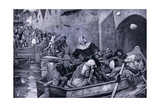 Queen Eleanor Pelted by the Londoners Ad1264, 1920's Giclee Print by Arthur A. Dixon