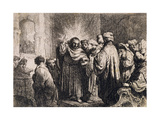 Christ with the Elders, from Michael Faraday's Scrapbook Giclee Print by Rembrandt Harmensz. van Rijn