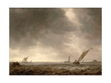 Fishing Smacks in a Squall at the Mouth of a River, C.1639-40 Giclee Print by Jan Josephsz. Van Goyen