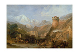 Battle of Rovereto, 4th September 1796, 1851 Giclee Print by Clarkson R.A. Stanfield