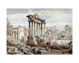 The Forum Romanum, Rome, C.1870 Giclee Print by J. Martin
