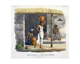 An Oil Merchant, 1827-35 Giclee Print by M.E. Burnouf