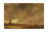Stormy Landscape with a Lightning Bolt over the Haarlemer Meer, 1642 Giclee Print by Jan Josephsz. Van Goyen