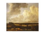 Jacob Isaaksz. Or Isaacksz. Van Ruisdael - An Extensive Landscape in Summer, 1665-70 Digitálně vytištěná reprodukce