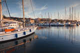 Town Marina at Sunset, Propriano, Corsica, France Photographic Print by Walter Bibikow
