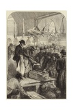 A Fish Auction in Columbia Market Giclee Print by Charles J. Staniland