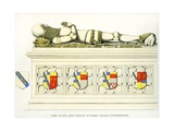 Effigy of Sir John Stanley, St. Peter's Church, Elford, Staffordshire, England, 1848-9 Giclee Print by Edward M. Richardson