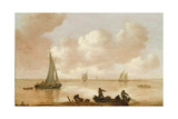 An Estuary with Fisherman Hauling in their Nets Giclee Print by Jan Josephsz. Van Goyen