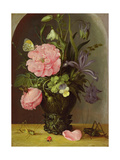 A Vase of Flowers, 1611 Giclee Print by Roelandt Jacobsz. Savery